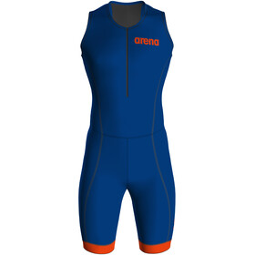 arena Tri Suit ST 2.0 Front Zip Swimsuit Men royal/orange